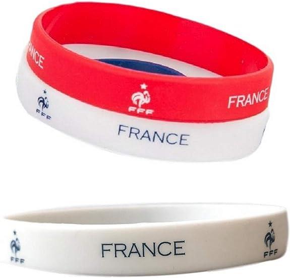 Bijouparis - Pulsera de silicona con diseño de la Copa del Mundo 2018, diseño de bandera de Francia, color azul: Amazon.es: Joyería