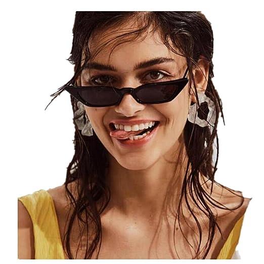 ad0d1c5cb2b2 Quartly Ladies Fashion Cat Eye Sunglasses Women Vintage Small Frame Retro  Sunglasses UV400 Eyewear Glasses (