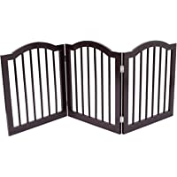 Internet's Best Pet Gate with Arched Top - 3 Panel - 24 Inch Step Over Fence - Free Standing Folding Z Shape Indoor…