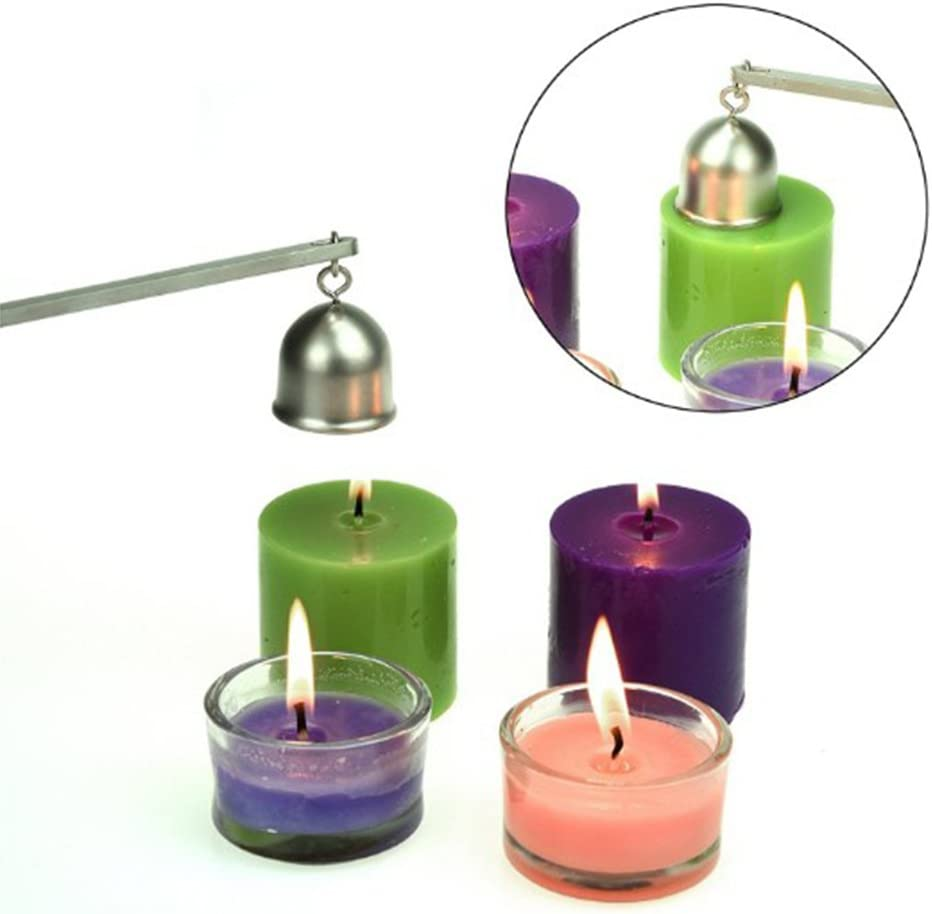 Yesiidor Candle Snuffer Extinguisher Candle Tool Candle Accessories Long Handle Bell Shape To Safely Extinguish