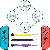 FYOUNG Joy-con Mecanismo de Piezas de Repuesto para Nintendo Interruptor, Hebillas de Izquierda y Derecha, Rail para Joy-con Unidades