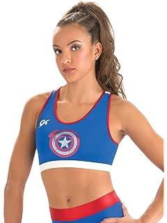 d9812fbc500ea Marvel Comics Avengers Captain America Shields All Over Sports Bra ...