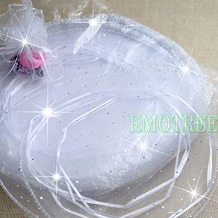 Emotree - 100 bolsas de organza blancas para bodas y fiestas ...