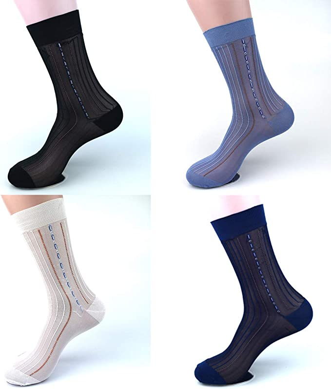 Details about  /5 Pairs Embroidery Crew Silk Socks Cotton Colorful Thin Skin Fancy /& Classy