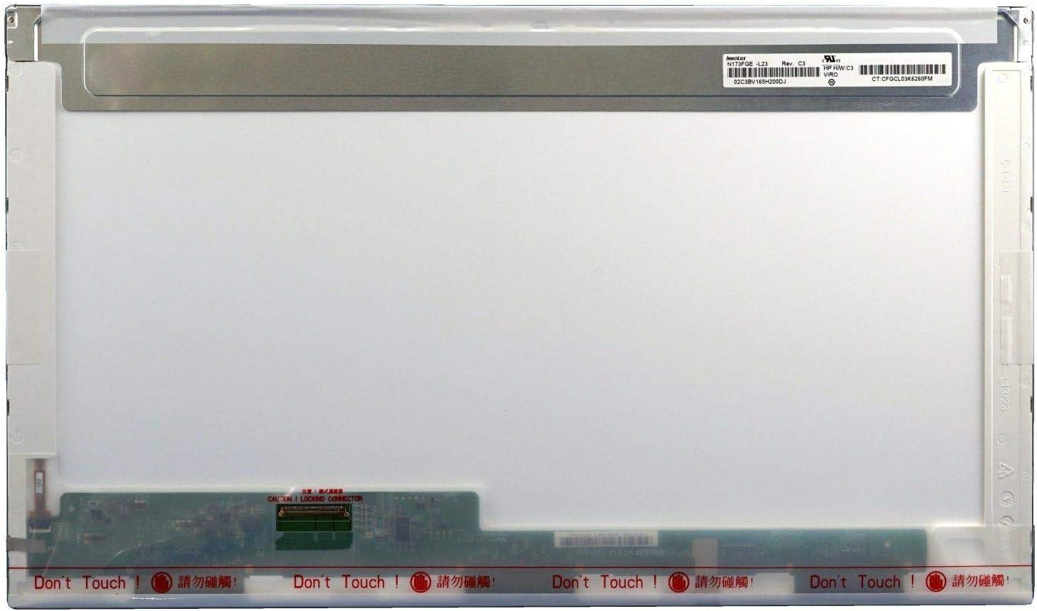 """HUAHAI 17.3"""" HD LED LCD Screen Display 40 Pin for HP Pavilion G7-2240US G7-2270US (Max. Resolution:1600 x 900)"""