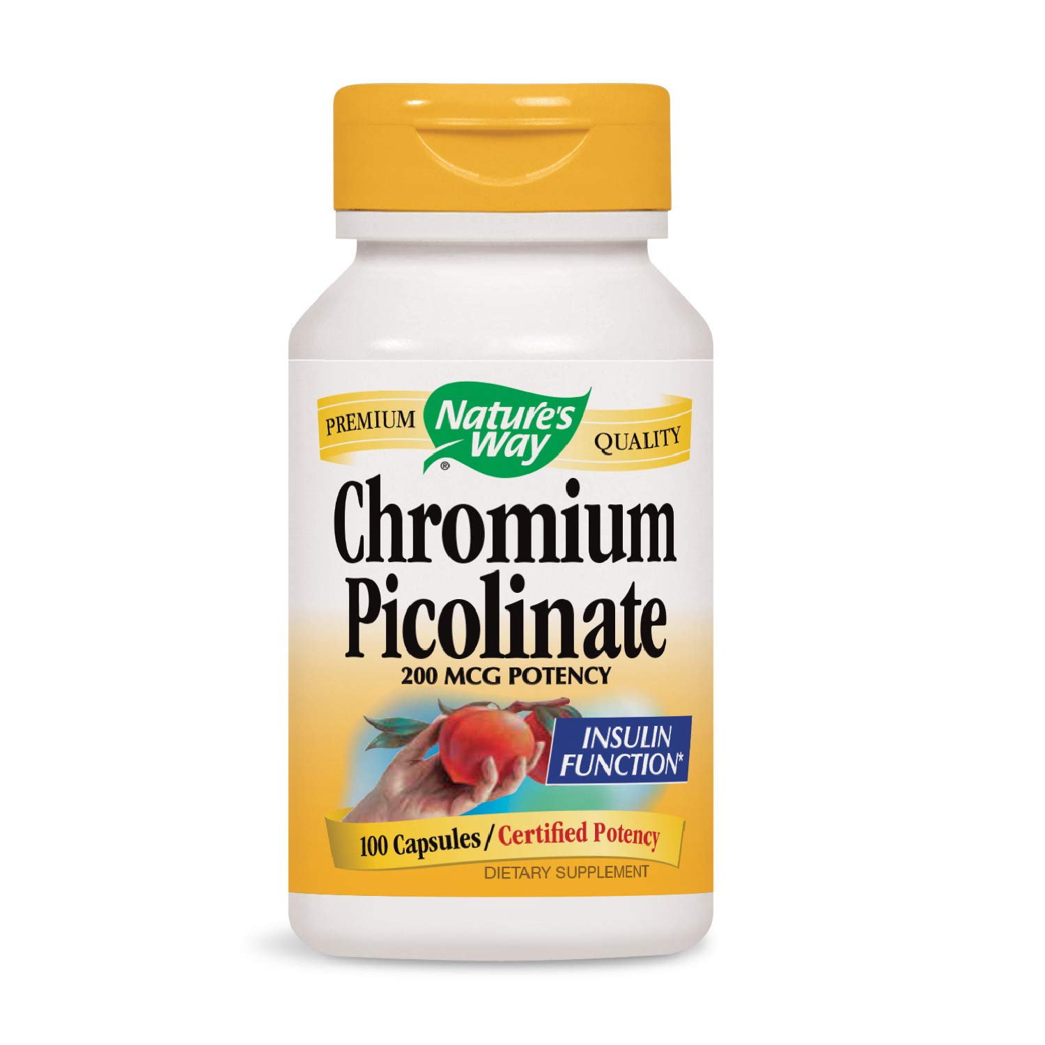 Nature's Way Chromium Picolinate, 200mcg, 100 Capsules (Pack of 4) (Packaging May Vary) by Nature's Way
