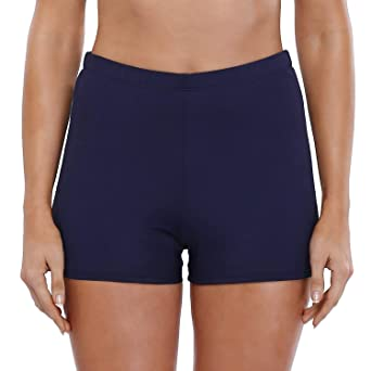 Avacoo Damen Bikinihose Bikini Slip Strandshorts Bauchweg Wassersport Bikini Slip mit Raffung