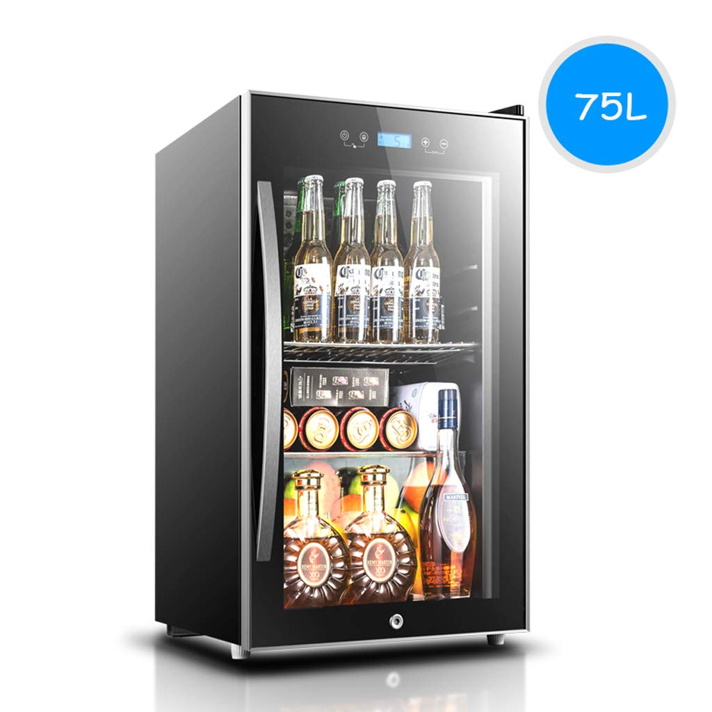 Lxn 75L Compressor Wine Cooler - Red and White Wine Chiller - Countertop Wine Cellar - Freestanding Refrigerator with LCD Display Digital Touch Controls
