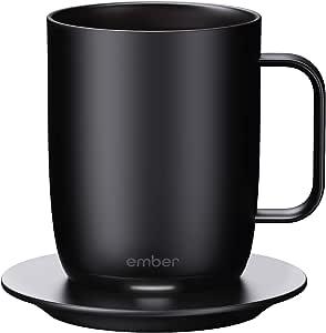 Ember Temperature Control Smart Mug, 14 oz, 1-hr Battery Life, Black - App Controlled Heated Coffee Mug