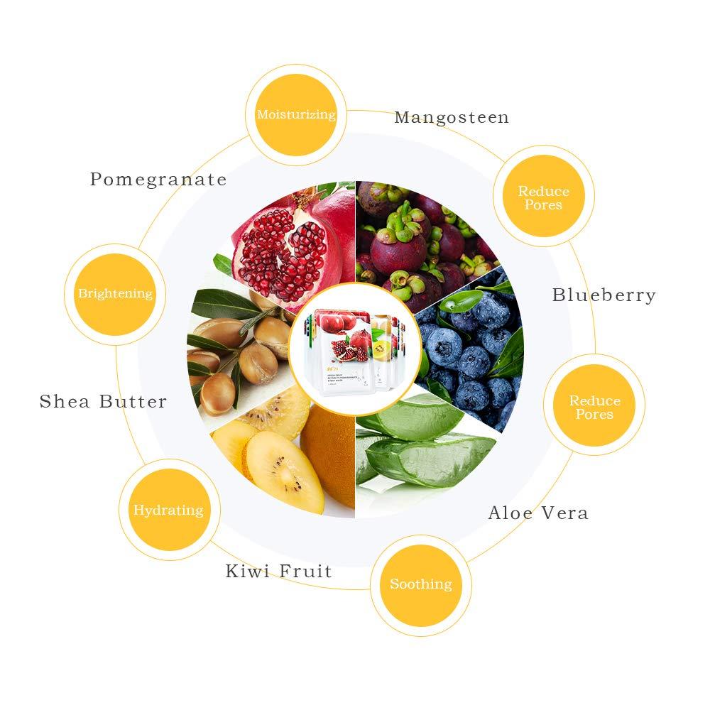 Sporting Pf79 Pure Natural Fruit Mask Vitamin C Vitamin A Whitening Nourishing Skin Anti-aging Facial Care Mask Skin Care Face