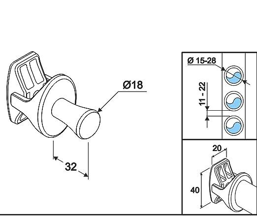 Handy Drop - Colgador para radiadores secatoallas - Blanco - 2 pz: Amazon.es: Hogar