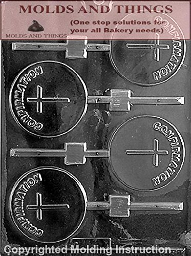 CONFIRMATION LOLLY Chocolate Candy Mold With Copywrited molding Instructions (Molds Confirmation Chocolate)