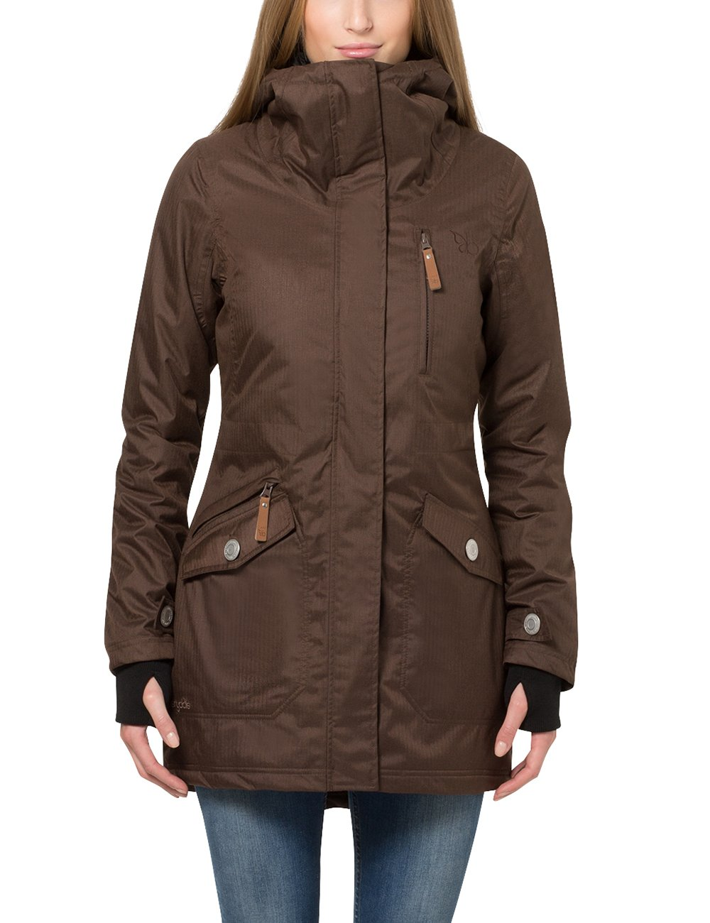 Berydale Women's Wind- and Waterproof Parka Long Sleeve Jacket Summary GmbH (Apparel) BD100