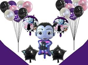 Vampirina Balloons Birthday Party Supplies [21 Balloons and 2 String ] | Disney Party Supply Decorations | Perfect Birthday Decoration