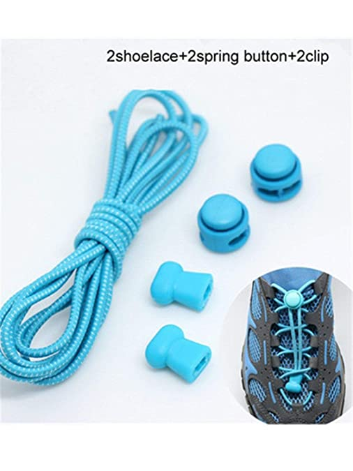 Amazon.com: Stretching Lock lace 22 colors a pair Of Locking Shoe Laces Elastic Sneaker Shoelaces Shoestrings Running/Jogging/Triathlon army green 100cm: ...