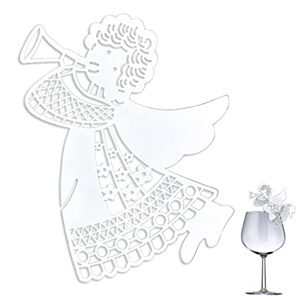 Amazon Sundlight Angel Wine Glass Card Table Decoration For