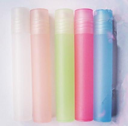 Dulce Primavera Agua roll-on botellas de plástico con bolas de acero inoxidable para aromaterapia