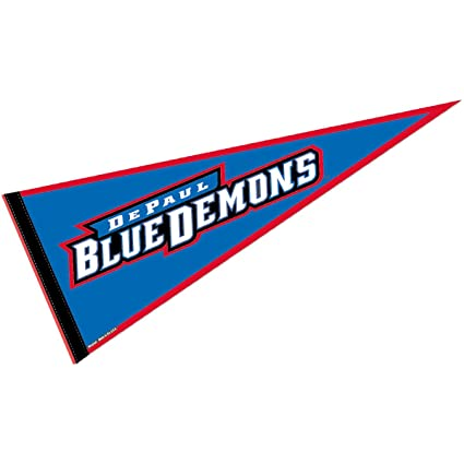 College Flags and Banners Co  DePaul University Pennant Full Size Felt