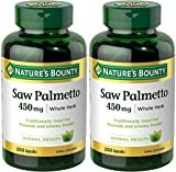Nature's Bounty Natural Saw Palmetto 450mg, 500 Capsules (2 x 250 Count Bottles)