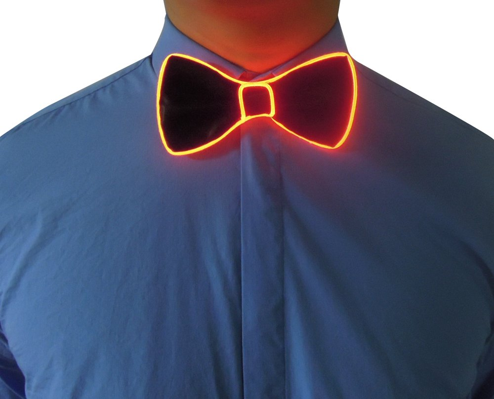 RaveLife Light Up Bow Tie LED El wire Tie for Party Christmas Rave Party Gift …