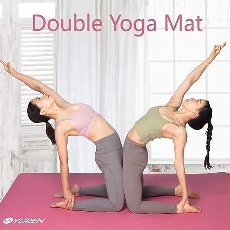 avec Sangle de Transport(Noir) Poses de Pratique du Yoga Imprim/ées YUREN Tapis de Yoga pour D/ébutant 6mm /Épais 183/×61cm PVC Fitness Tapis Accueil Gymnastique Pilates
