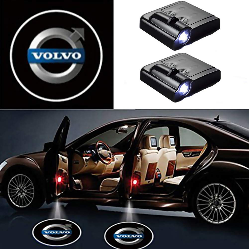 for Ford 2 Pack LED Car Projector Logo Spirit Shadow Light Door Lighting Welcome Lamp Wireless Laser Projector Logo Light Car Door Logo Light