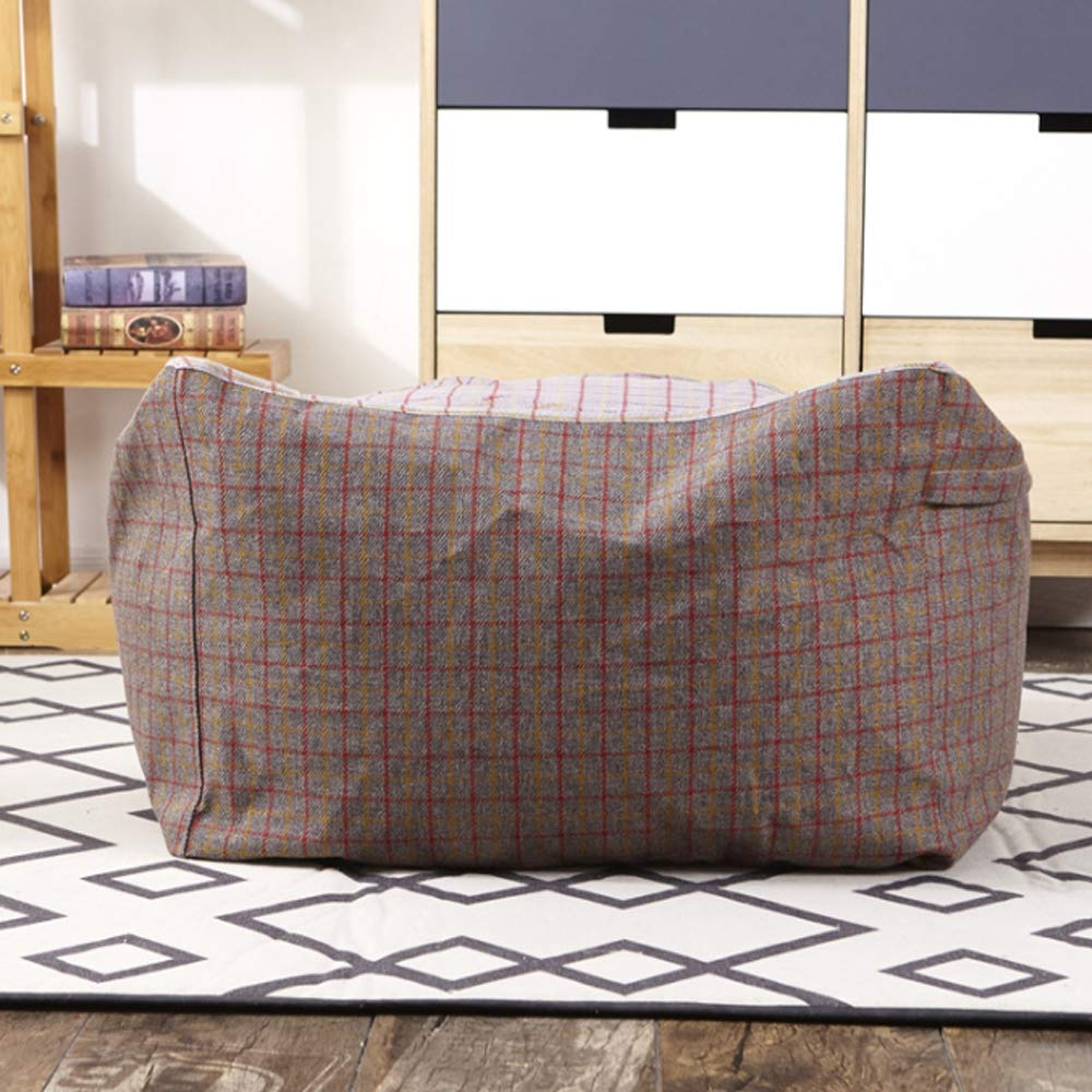 Brown JKYQ Free Deformation Bean Bag Pocket Design Bean Bag Chair Indoor And Outdoor Garden Loungers Cushion For Adult Teens Large 65CM65CM43CM