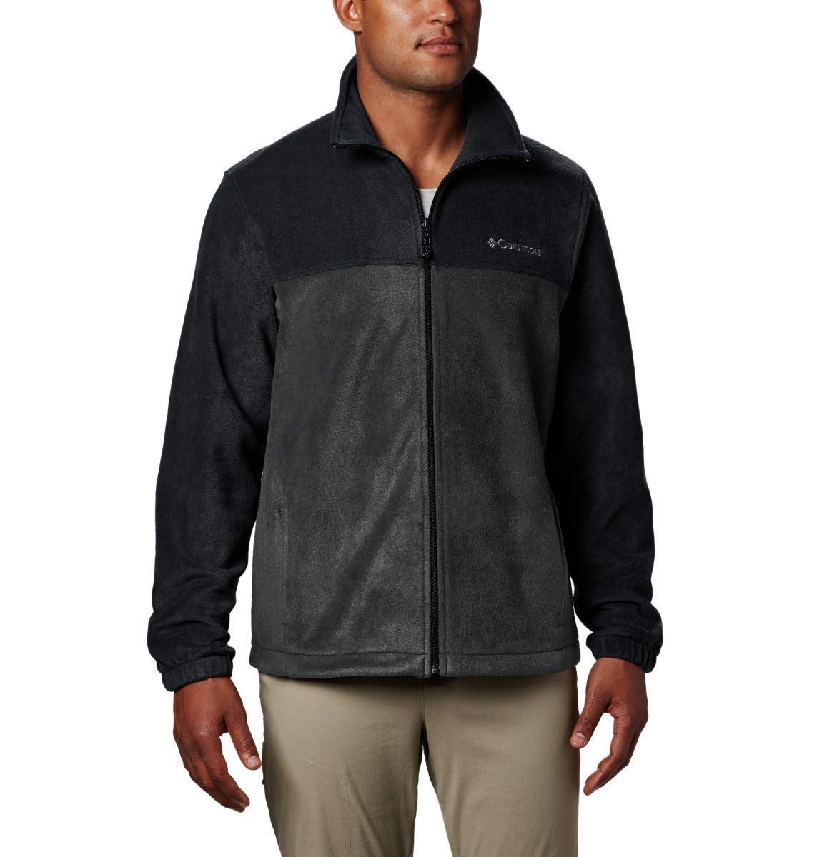 Columbia Men's Tall Size Steens Mountain Full Zip 2.0, Soft Fleece with Classic Fit, Black/Grill, 4XT by Columbia