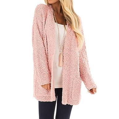 Amazon.com: Women Fleece Long Sleeve Open Front Woolen ...