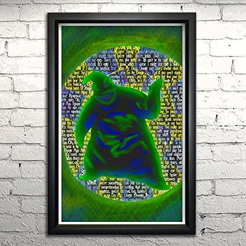 Nightmare Before Christmas Oogie Boogie word art print 11x17