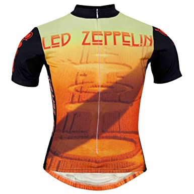 Old Glory Men s Led Zeppelin Crop Circles Cycling Jersey Orange Small f4c1d44db