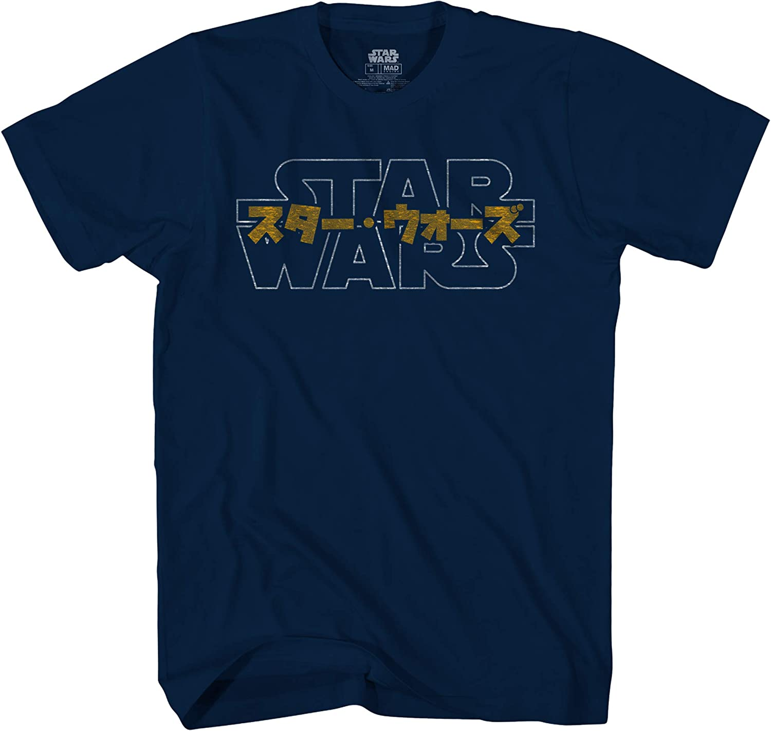 STAR WARS Logo Japanese Adult Tee Graphic T-Shirt for Men Tshirt