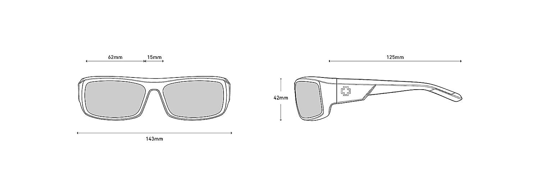 Matte Black Spy Optic Admiral Wrap Sunglasses 62 mm
