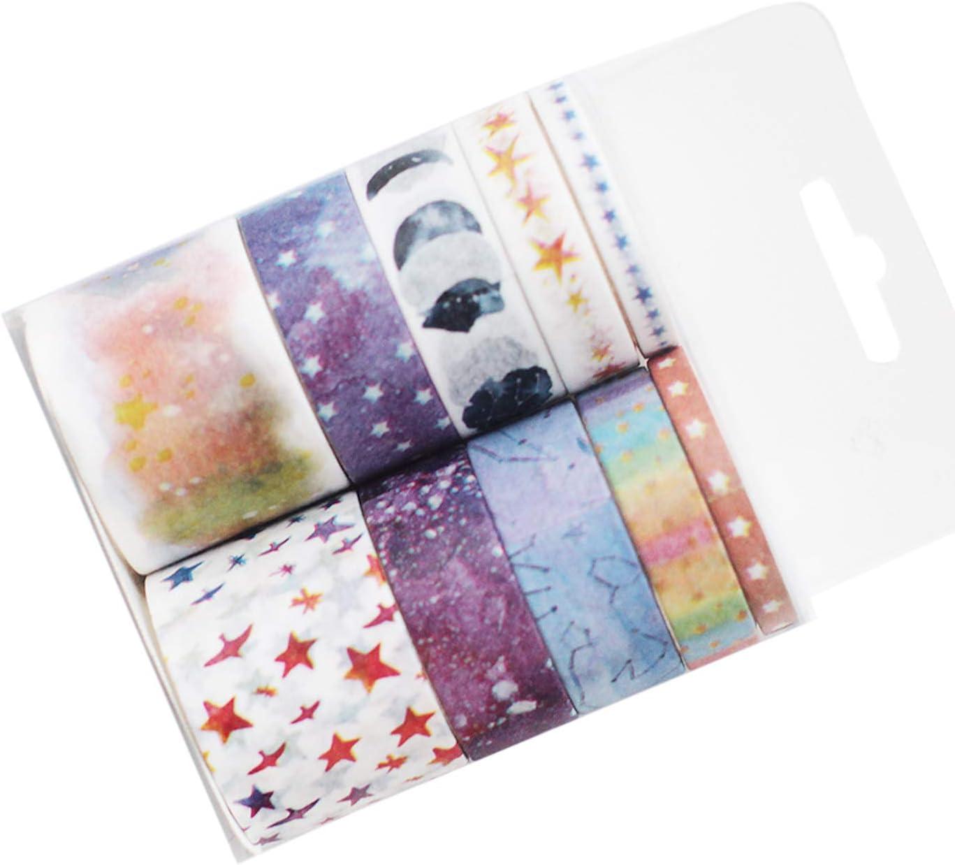 20 rollos de cinta adhesiva de enmascaramiento Washi Tape multipatrón, para manualidades, envoltura de regalo 2 * 10pcs estrella: Amazon.es: Hogar