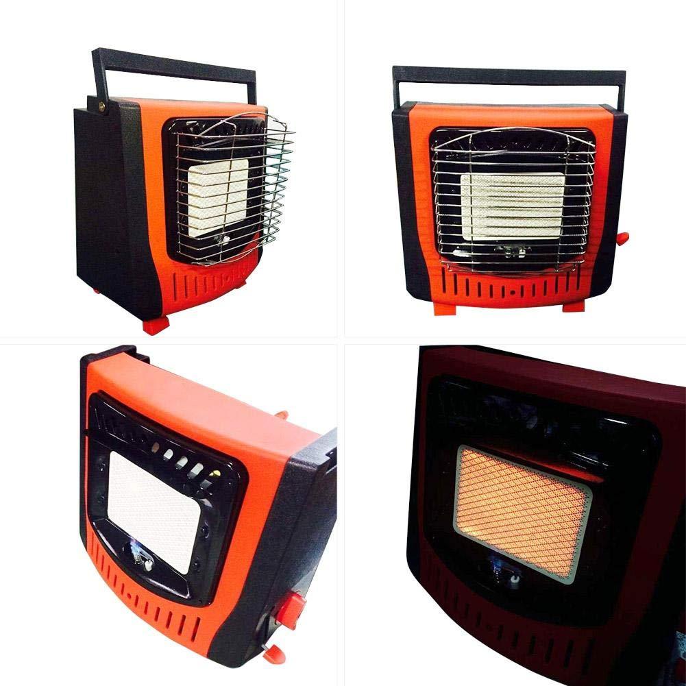 Easy-topbuy Portátil Estufa de Calefacción Cómodo Compacto - Encendido Electrónico Piezoeléctrico Gas Butano Metano 1200W Adecuado para Calefacción al Aire ...