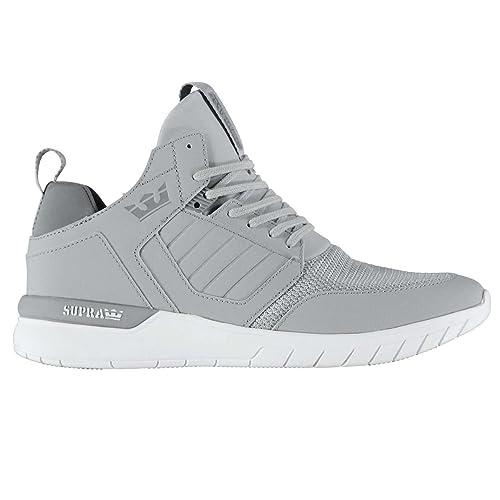 Supra Hombre Method Zapatillas Zapatos Casual Calzado Cordones Gris / Blanco 11 (45)
