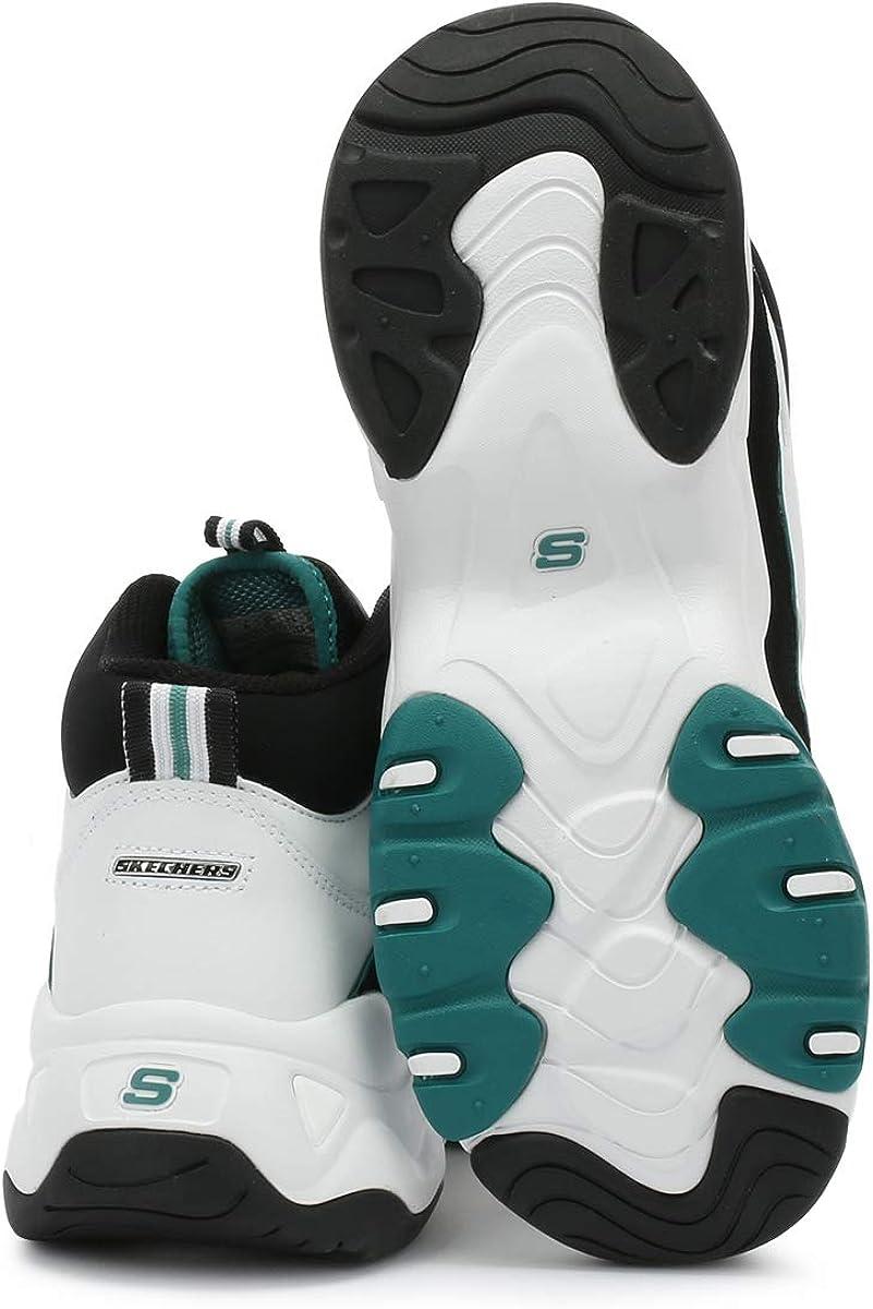 Skechers One Piece D'Lites 2 Damen WeißGrün Sneakers