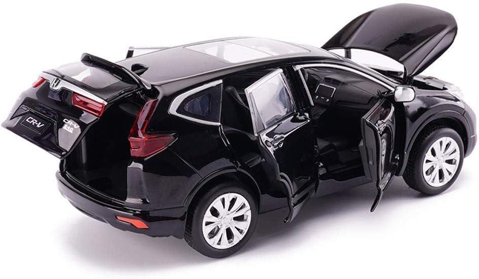 LLZYZJ Lega modellino Auto, 1: 32 Simulazione CRV Fuoristrada Toy Model Car, Car Amanti Collezione di Gioielli, la Decorazione dell'ufficio, 14.5x6x5.5CM (Color : Black) Black