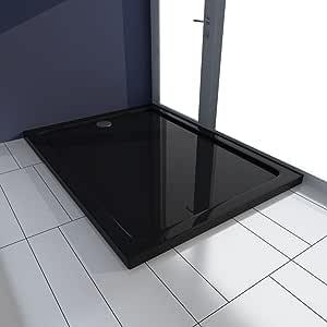 Plato de ducha (ABS rectangular negro 80 x 110 x 4 cm: Amazon.es: Bricolaje y herramientas