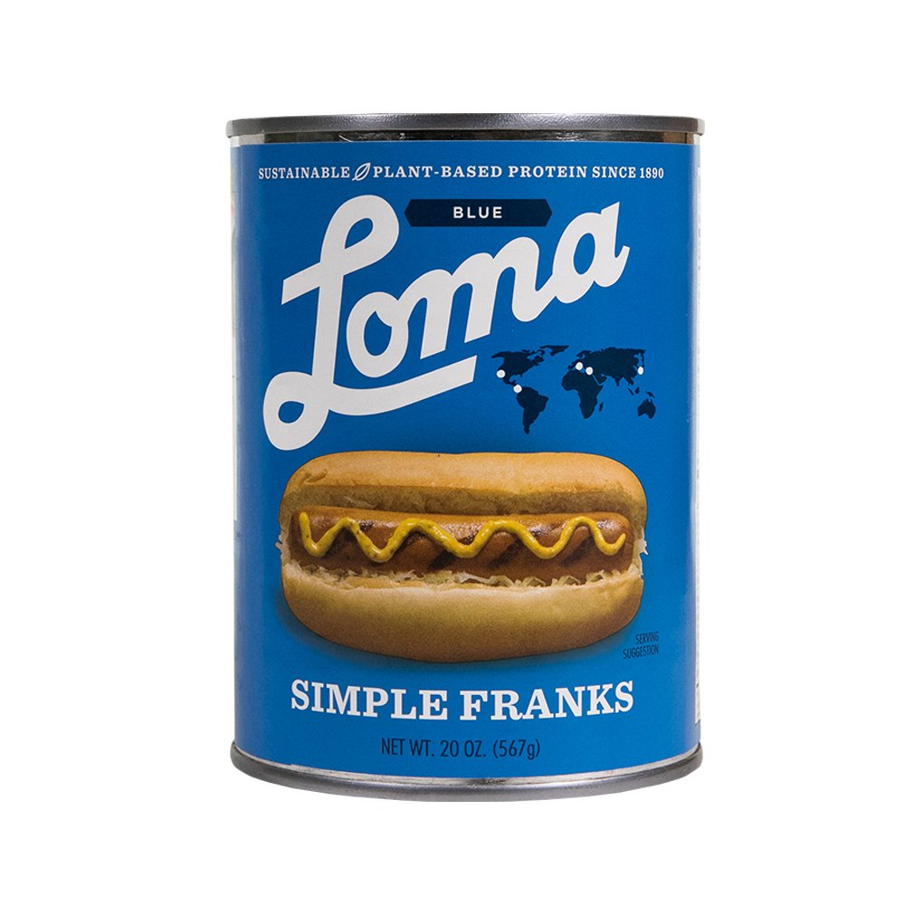 Loma  Linda Blue - Plant-Based - Simple Franks (20 oz.) (Pack of 6) - Kosher by  (Image #4)