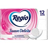 Regio Papel Higiénico Regio Suave Deleite 12S, Color, 12 Count, Pack Of aquete de