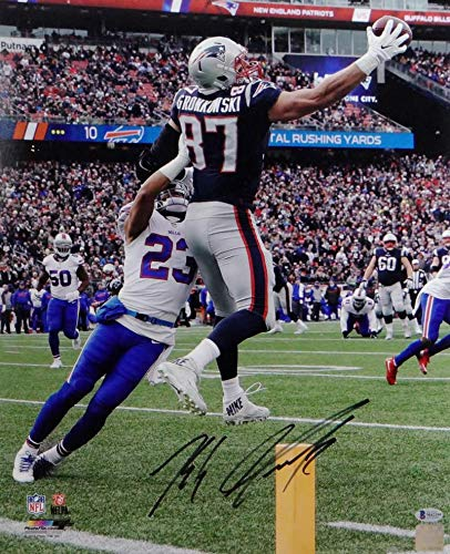 9401d561858 Image Unavailable. Image not available for. Color  Rob Gronkowski  Autographed New England Patriots ...
