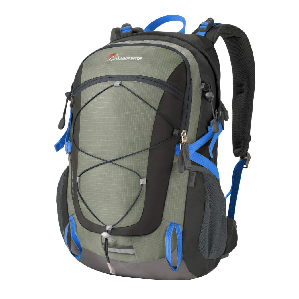Mountaintop 40 Liter Unisex Hiking/Camping Backpack (Gray1) by MOUNTAINTOP
