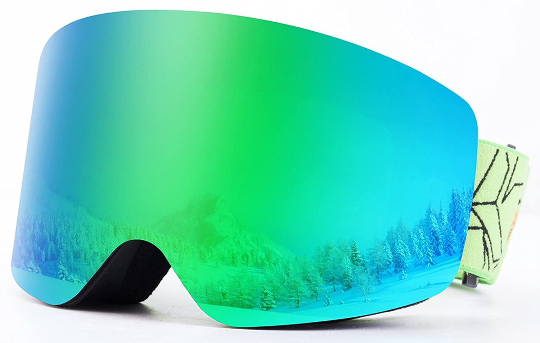 OTG REVO Occhiali da Sci,Snowboard Maschera Sci Sferica Wide View Anti Nebbia Protezione UV400 Occhiali per Adulti e Adolescenti By EnergeticSkyTM per Sci Snowboard e Sport Invernali