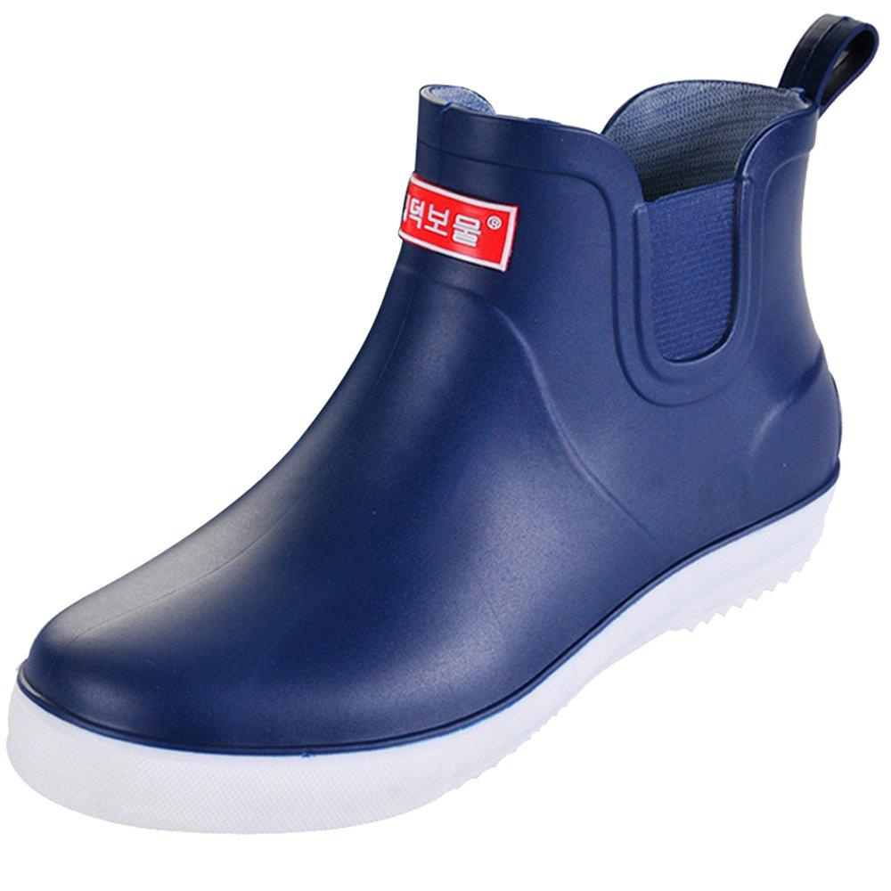 SUADEEX Damen Herren Regenstiefel Kurzschaf Stiefel Gummistiefel Gummistiefeletten Regenstiefel Kurz Chelsea Boots