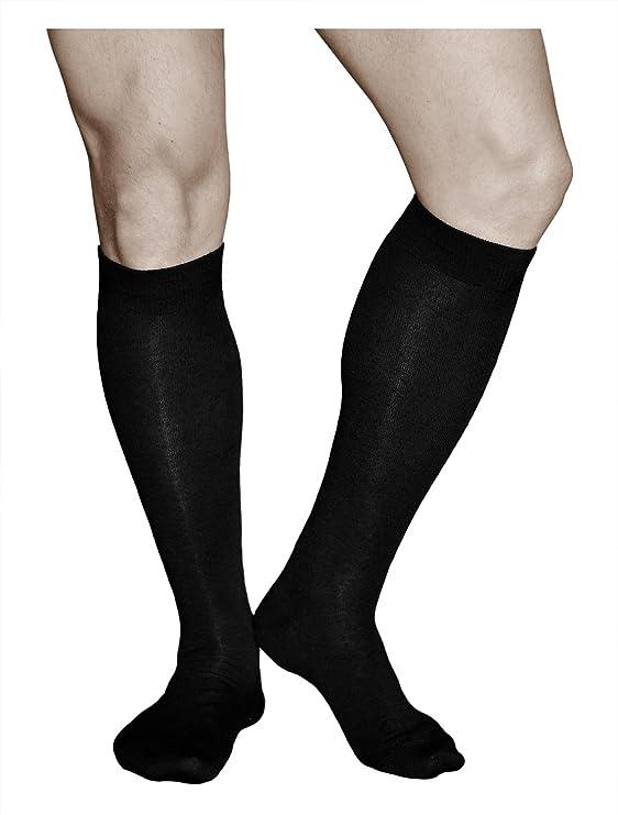 5 paia di alta qualità di medie dimensioni Nero francese//Punto tacco cuciti Calze