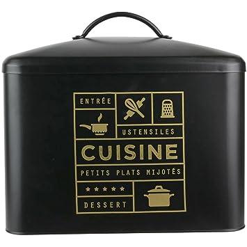 Promobo Boite De Rangement Cuisine Design Collection Black