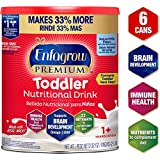 Enfagrow Premium Omega 3 DHA Prebiotics Non-GMO (Formerly Toddler Next Step) Toddler Nutritional Milk Drink, Natural Milk Flavor Powder 32 Oz. Can (Includes 6 Cans) From the Makers of Enfamil