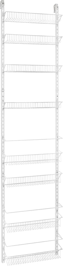 ClosetMaid 1233 Adjustable 8-Tier Wall and Door Rack, 77-Inch Height X 18-Inch Wide best pantry organization systems