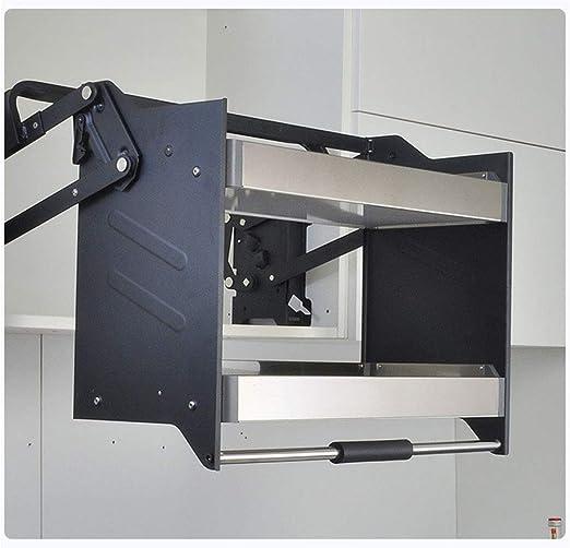 Estante de almacenamiento del armario de la cocina, cesta elevadora de acero inoxidable de diseño extraíble, estantes multifuncionales para la cocina casera y los hoteles,56x30x55cm: Amazon.es: Hogar